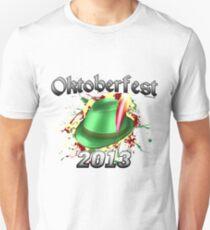 Oktoberfest German Hat 2013 Slim Fit T-Shirt