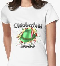 Oktoberfest German Hat 2013 Women's Fitted T-Shirt