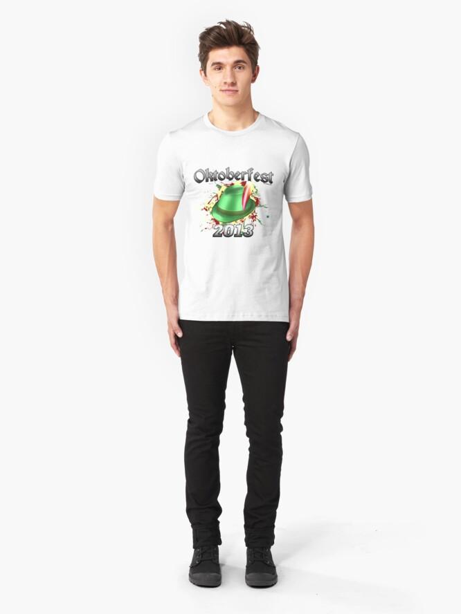 Alternate view of Oktoberfest German Hat 2013 Slim Fit T-Shirt