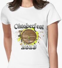 Oktoberfest Keg 2013 Women's Fitted T-Shirt