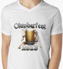 Oktoberfest Beer Mug 2013 Men's V-Neck T-Shirt