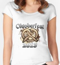 Oktoberfest Pretzel 2013 Women's Fitted Scoop T-Shirt
