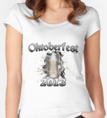 Oktoberfest Beer Stein 2013 Women's Fitted Scoop T-Shirt