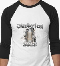 Oktoberfest Beer Stein 2013 Men's Baseball ¾ T-Shirt