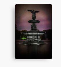Bethesda Fountain at Night Canvas Print