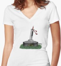 Cloud Sword In The Stone Women's Fitted V-Neck T-Shirt