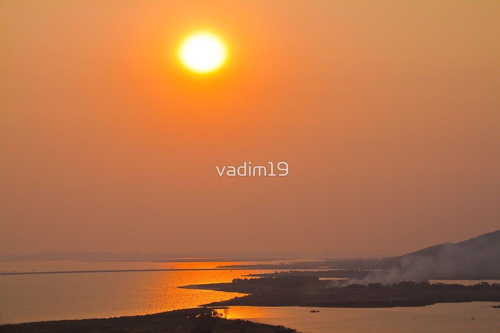 Vietnam. Halong. Sunset. by vadim19