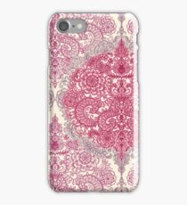 Happy Place Doodle in Berry Pink, Cream & Mauve iPhone Case/Skin