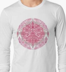 Happy Place Doodle in Berry Pink, Cream & Mauve Long Sleeve T-Shirt