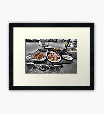 Royston Park Cafe - Trolley Framed Print