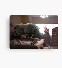 Bad Rhino! Metal Print