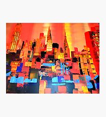 Manhattan Cityscape Skyline Piainting 0191 Photographic Print