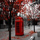 Phone box in London by Laurence Norah