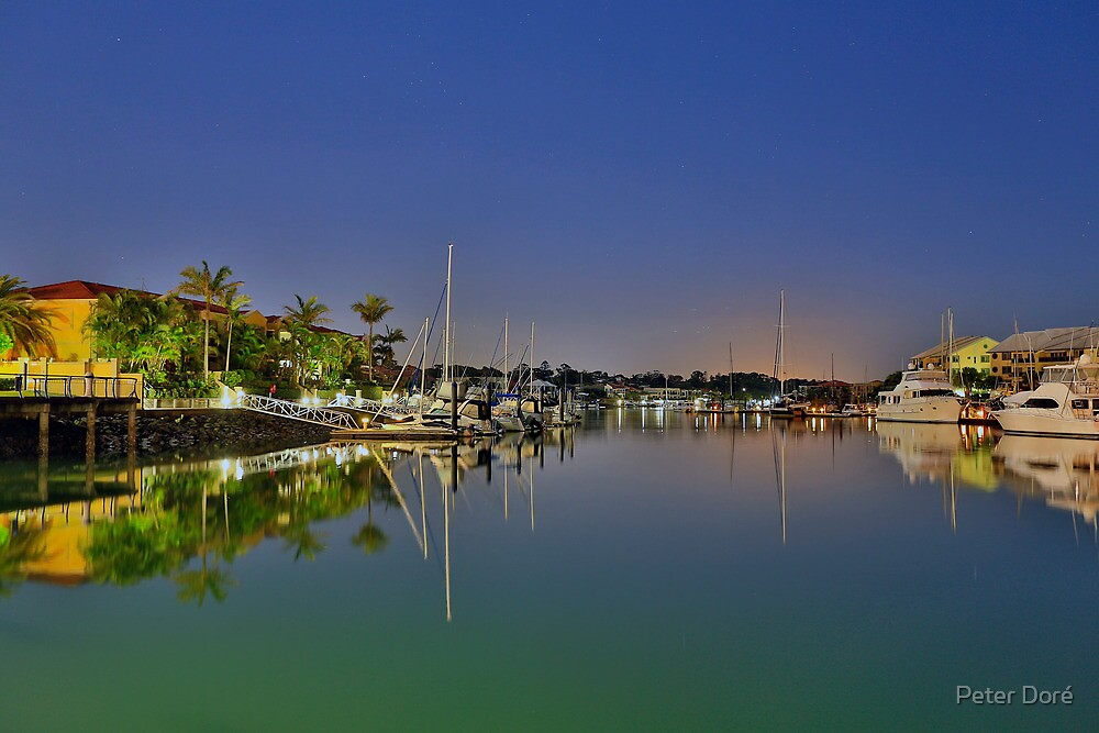 Raby Bay Reflections by Peter Doré