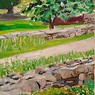 Weir Farm Sunken Garden panel 1  by Caroline  Hajjar Duggan