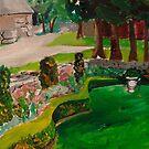 Weir Farm Sunken garden Panel 2  by Caroline  Hajjar Duggan