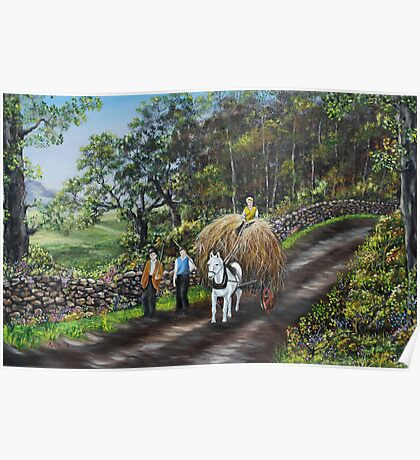 Bringing Home the Hay - Oil Painting Poster