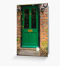 The Green Door England Greeting Card
