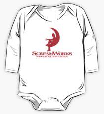 Body de manga larga para bebé ScreamWorks (rojo)