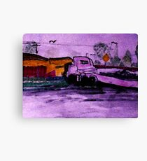The run away truck of distruction, watercolor Canvas Print