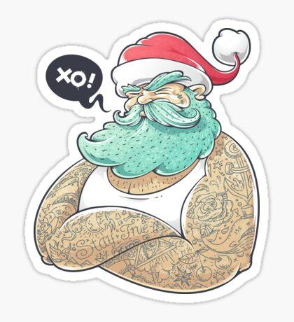 Hipsta Claus Sticker