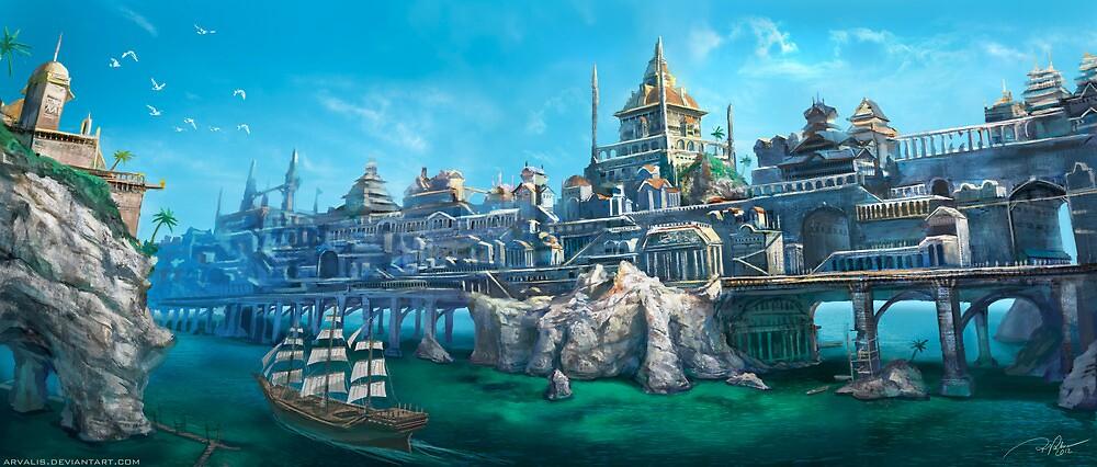City on the Big Bridge by RJ Palmer