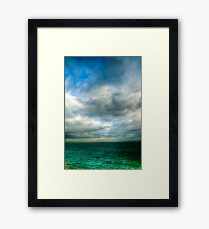 Green Seas Framed Print