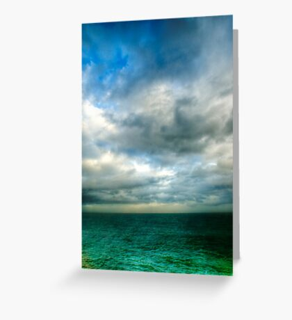 Green Seas Greeting Card