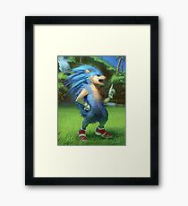 Sonic the Realhog Framed Print