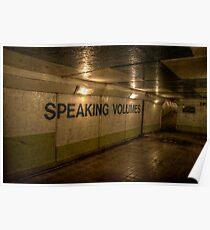Subway - Speaking Volumes Poster