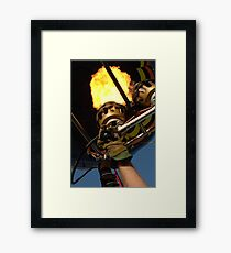Hot Air Balloon Burner Framed Print