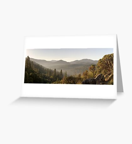 Yosemite National Park Forest Greeting Card