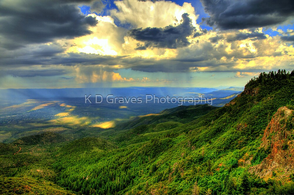Sunset With Monsoon Rainstorm by K D Graves Photography