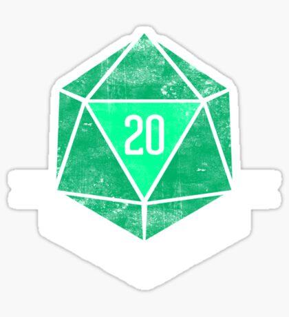 Natural 20's (GREEN) Sticker