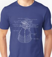 Fly me to the Moon - Nasa F1 Engine Blueprint Unisex T-Shirt