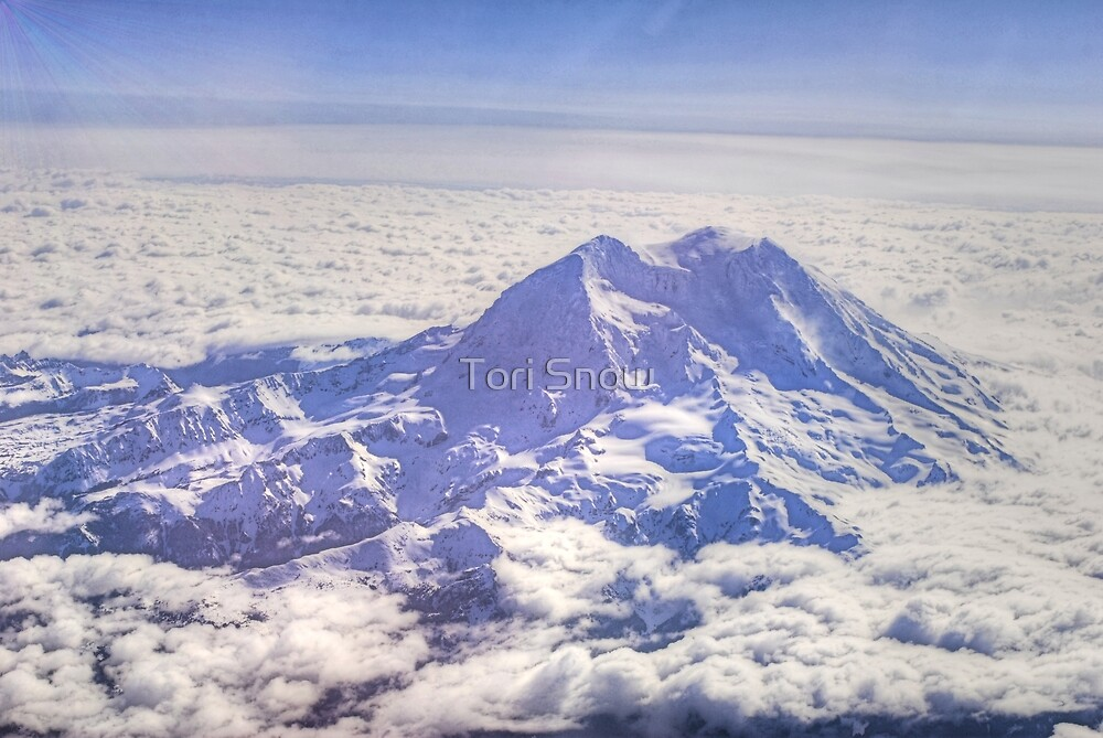 Above Mount Rainier in HDR by Tori Snow