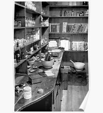 The Apothecary (HDR) B&W Poster