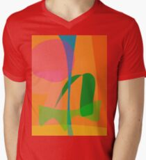 Corn Field Sundown Men's V-Neck T-Shirt