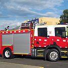 Morwell Firebrigade Truck - Gippsland by Bev Pascoe