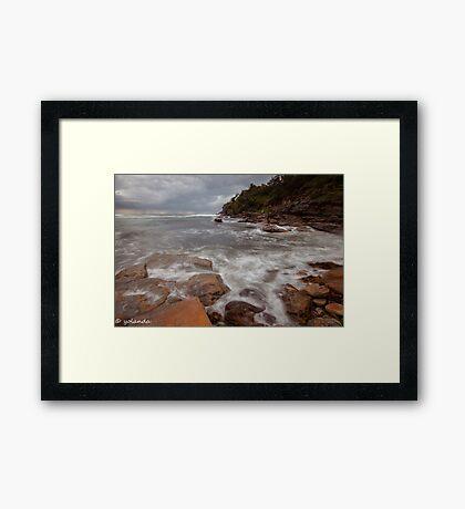 Satin Rocks Framed Print