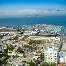 Fishermans Wharf and Alcatraz San Francisco by mlphoto