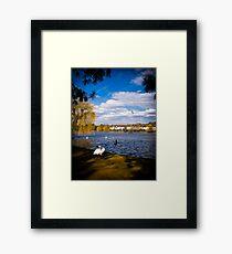 Roath Park Lake Cardiff Wales Framed Print