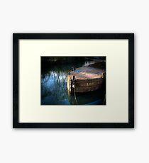 Rusty Barge Framed Print
