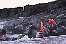 Lava Flow at Kalapana 10 by Alex Preiss