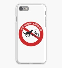 No Rickshaws Allowed, Traffic Sign, Vietnam iPhone Case/Skin