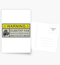 Dubstep Warning Postcards