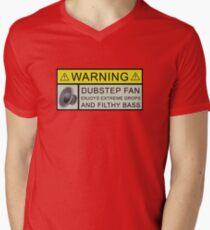 Dubstep Warning Men's V-Neck T-Shirt