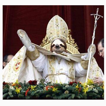 Sloth Pope  by winrarwins