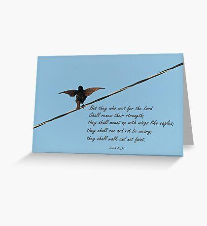 Isaiah 40:31 Greeting Card Greeting Card