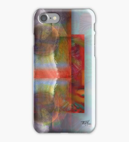 Red on Amethyst and Opal iPhone Case/Skin